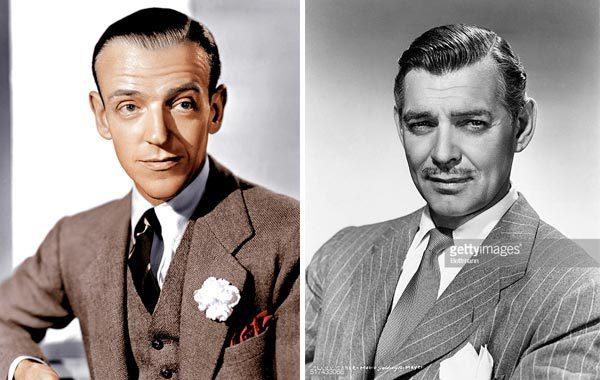 Fred Astaire e Clark Gable con pochette uomo